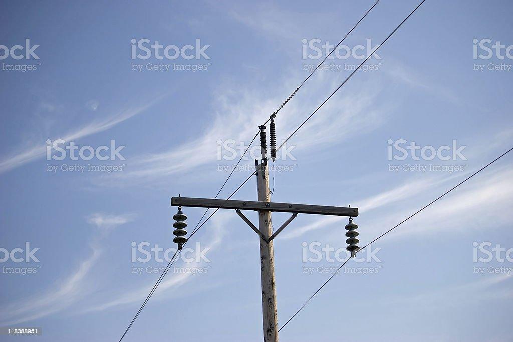 telephone electric utlility pole stock photo
