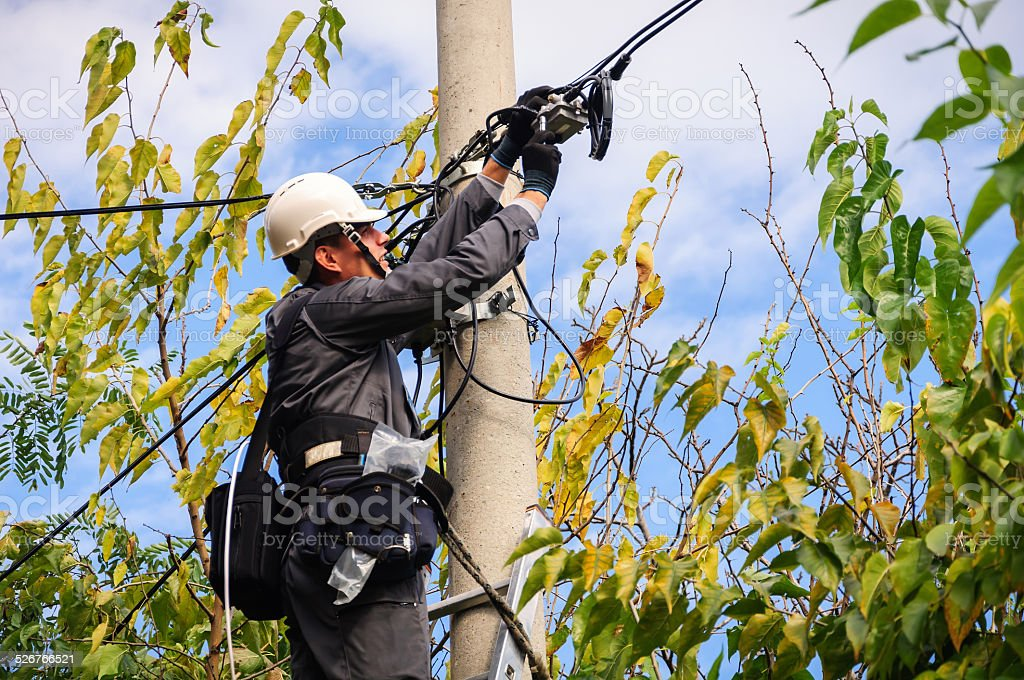 Telephone Engineer stock photo