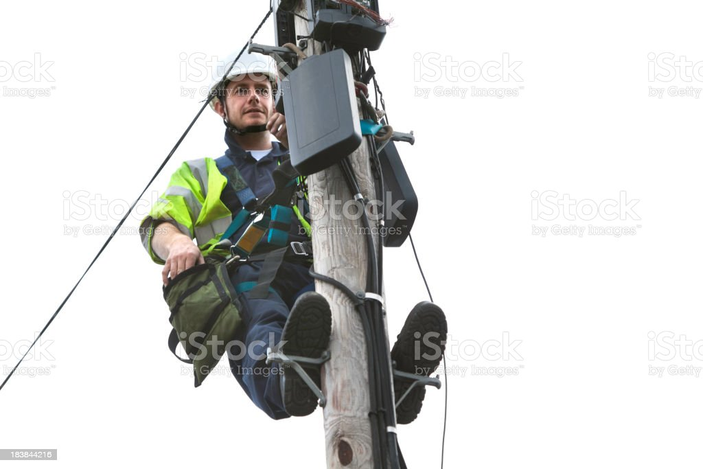 Telephone Engineer series stock photo