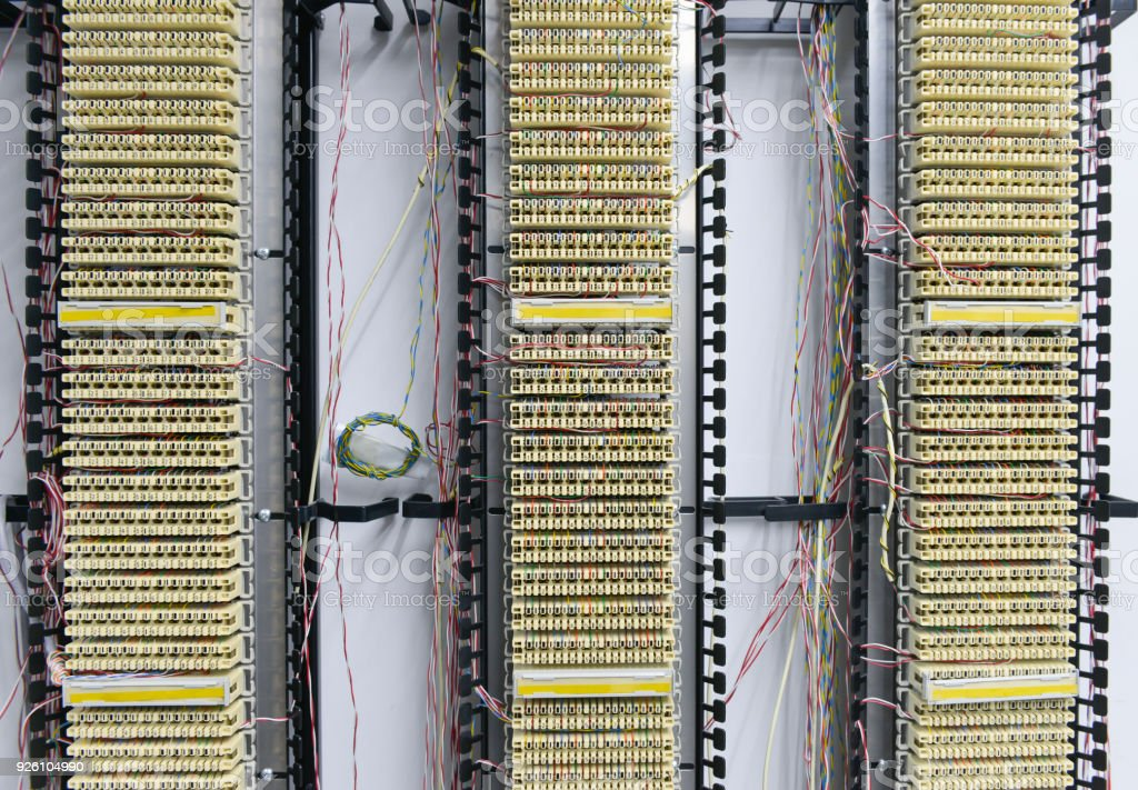 Fantastic Pabx Telephone Exchange Wires Between Circuit Board Stock Photo Wiring Digital Resources Attrlexorcompassionincorg