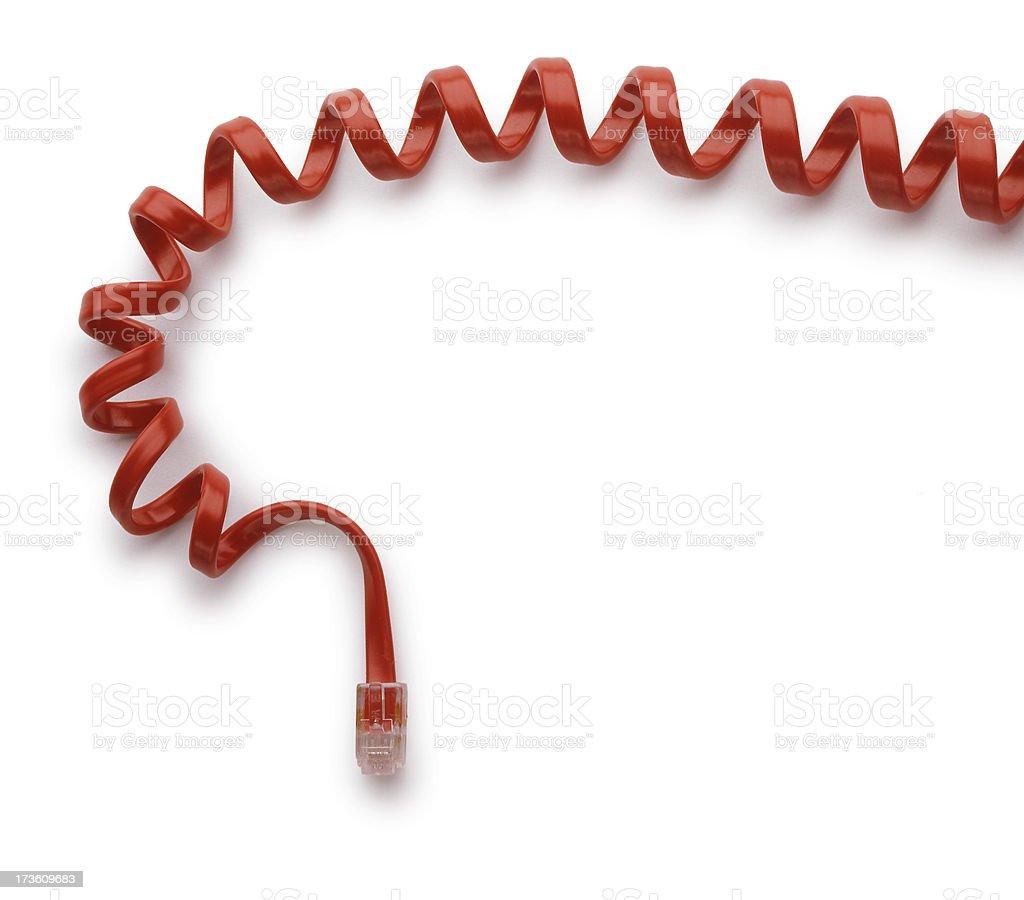 Telephone Handset Cord royalty-free stock photo