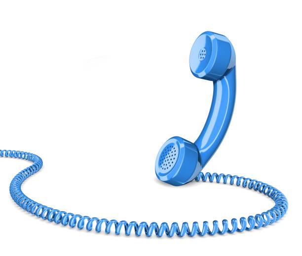 Téléphone combiné isolé illustration 3d - Photo