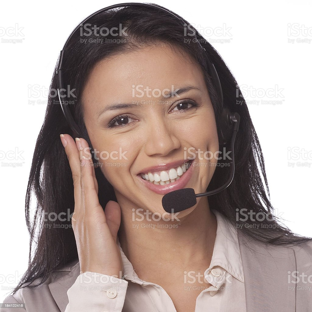 Telephone helpdesk stock photo