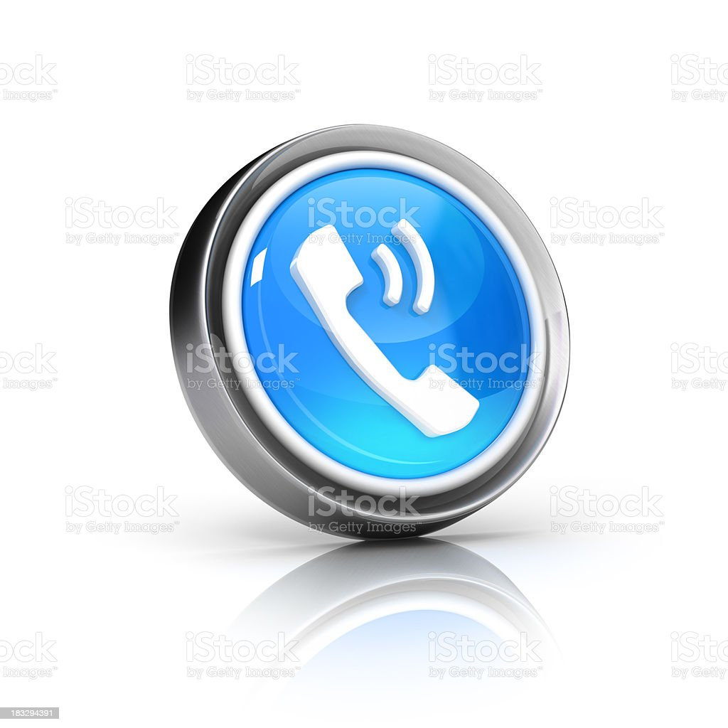 Telephone icon royalty-free stock photo