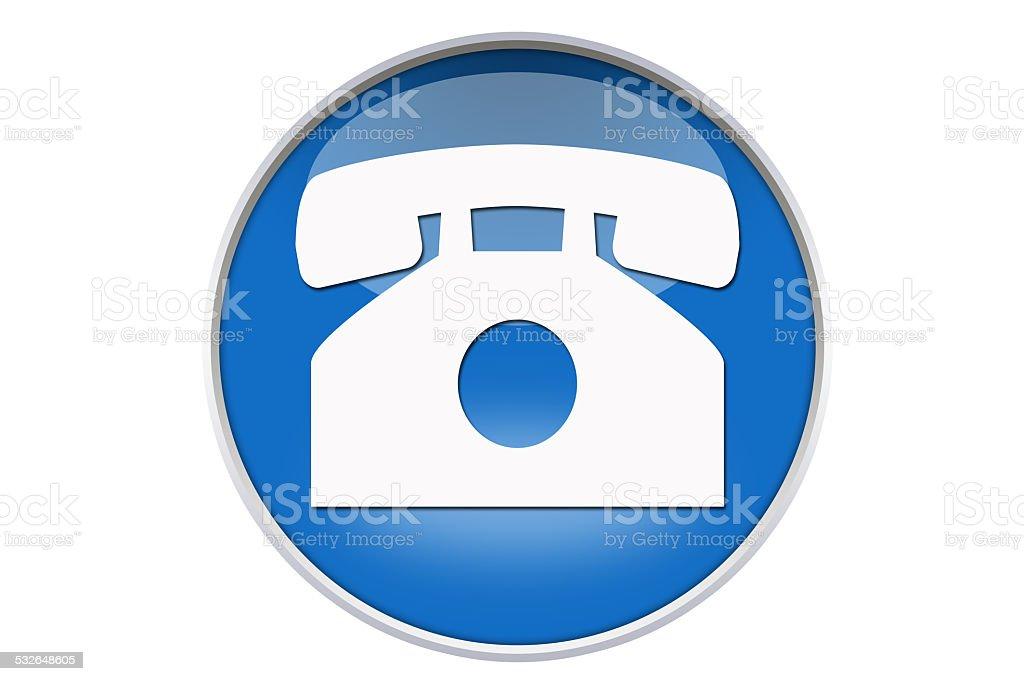Telephone Icon - Stock Image stock photo