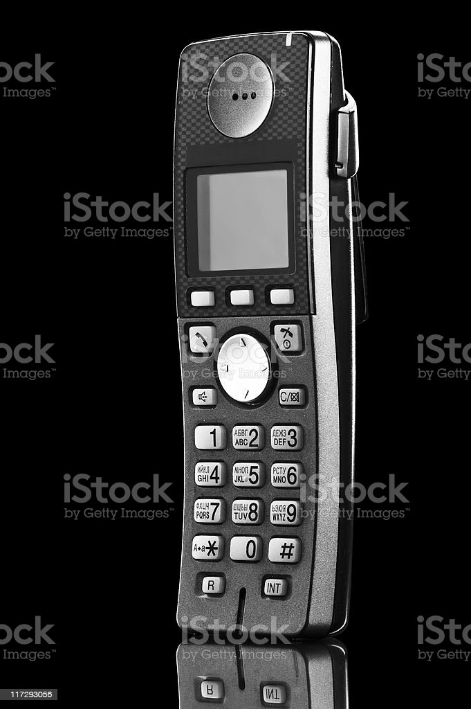 telephone isolated on black royalty-free stock photo