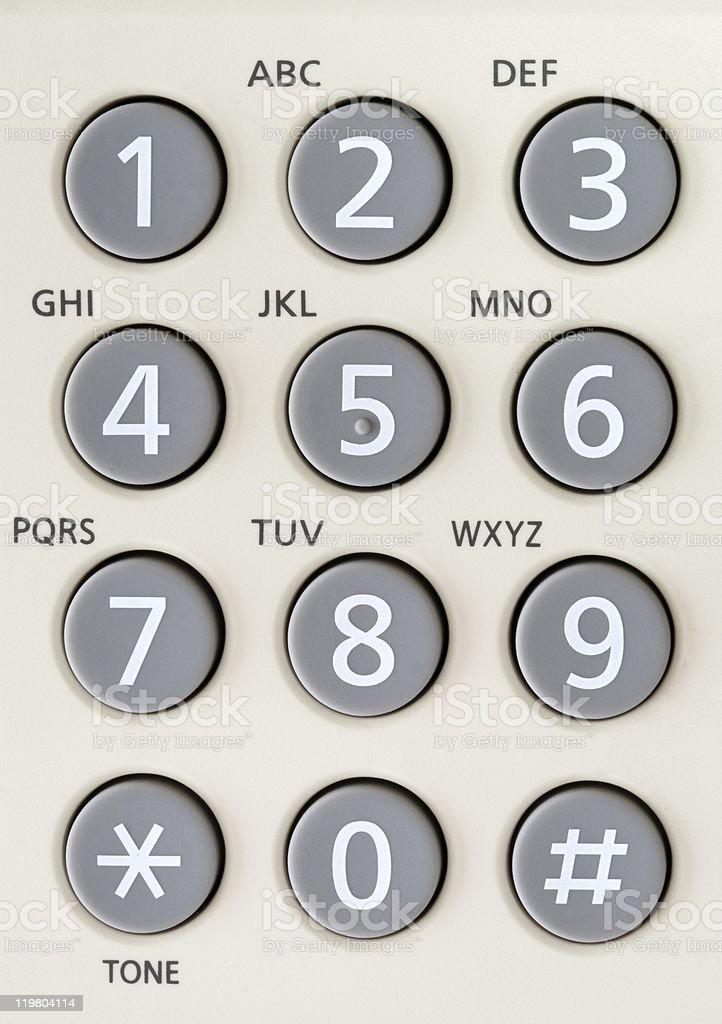 Tastiera telefonica - foto stock