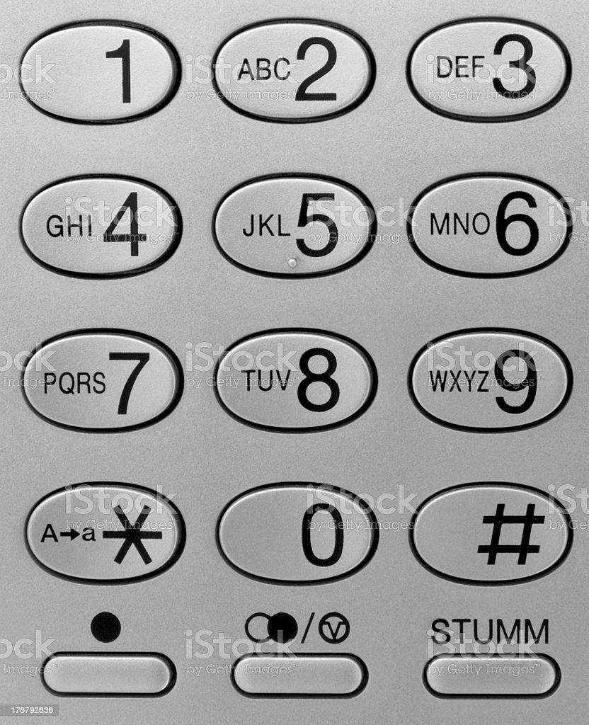 Telephone keypad stock photo