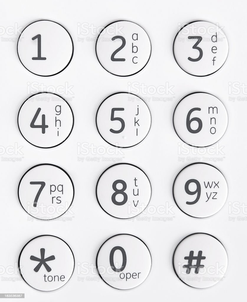 Telephone Keypad royalty-free stock photo