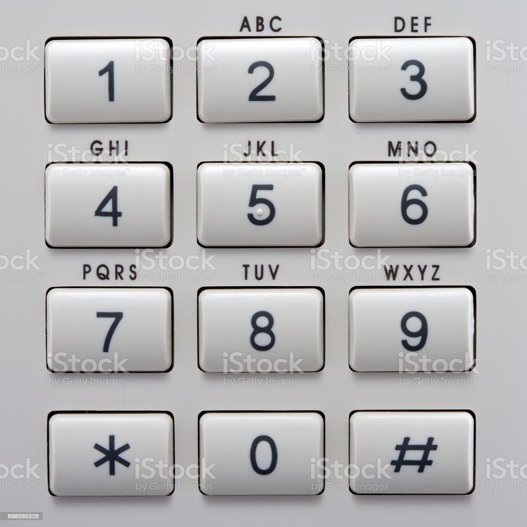 Teclado del teléfono con botones. - foto de stock