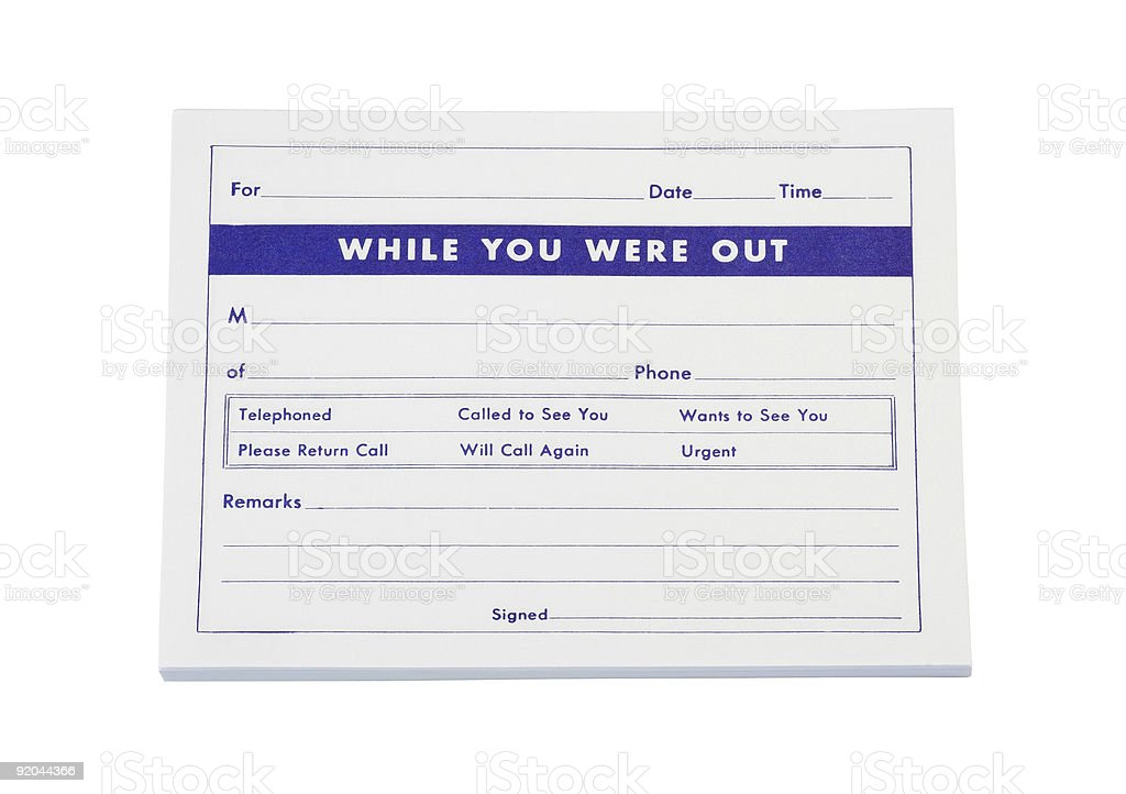 Telephone Message Pad royalty-free stock photo