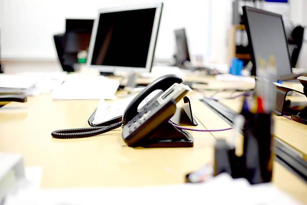 Telephone on the desk stock photo