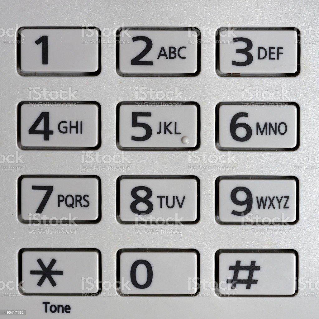 telephone pad stock photo