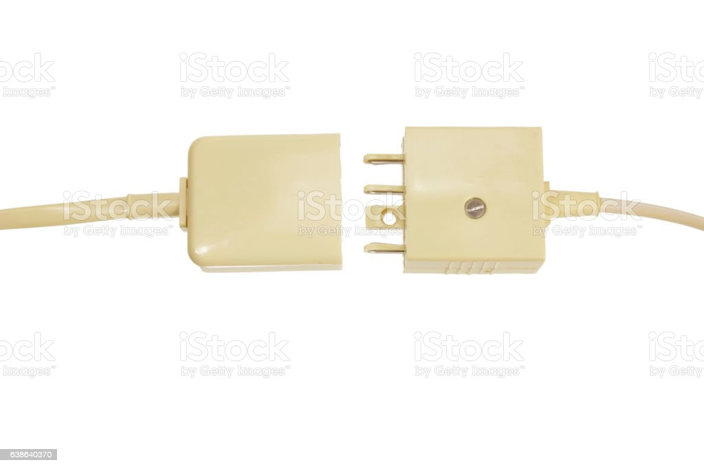Telephone Plugs and Sockets stock photo