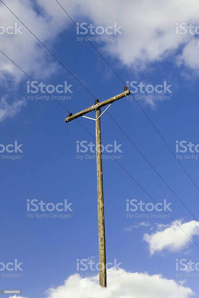 Telephone pole royalty-free stock photo