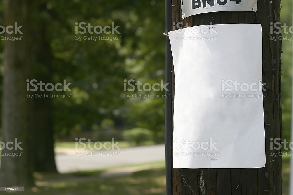Telephone Pole Sign stock photo