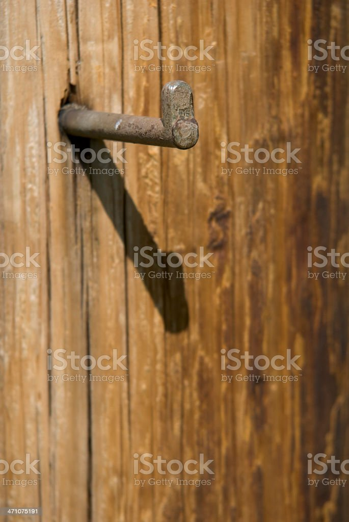 Telephone pole with foot spike / step royalty-free stock photo