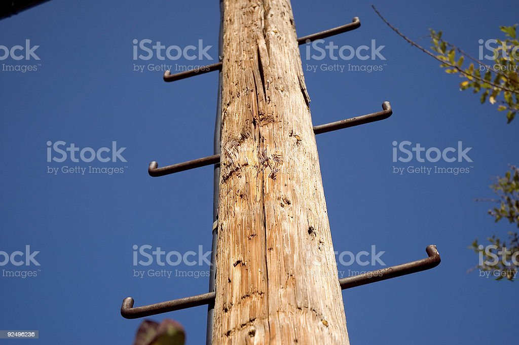 Telephone Poll royalty-free stock photo