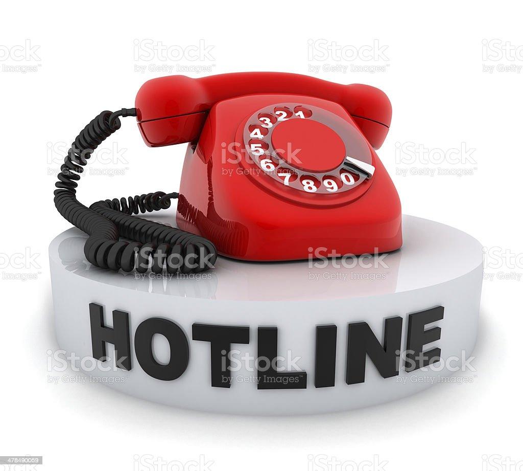 Telephone red stock photo