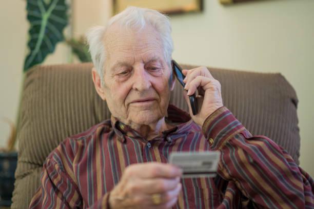 Telephone Scam stock photo