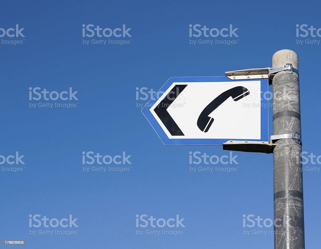Telephone Sign royalty-free stock photo