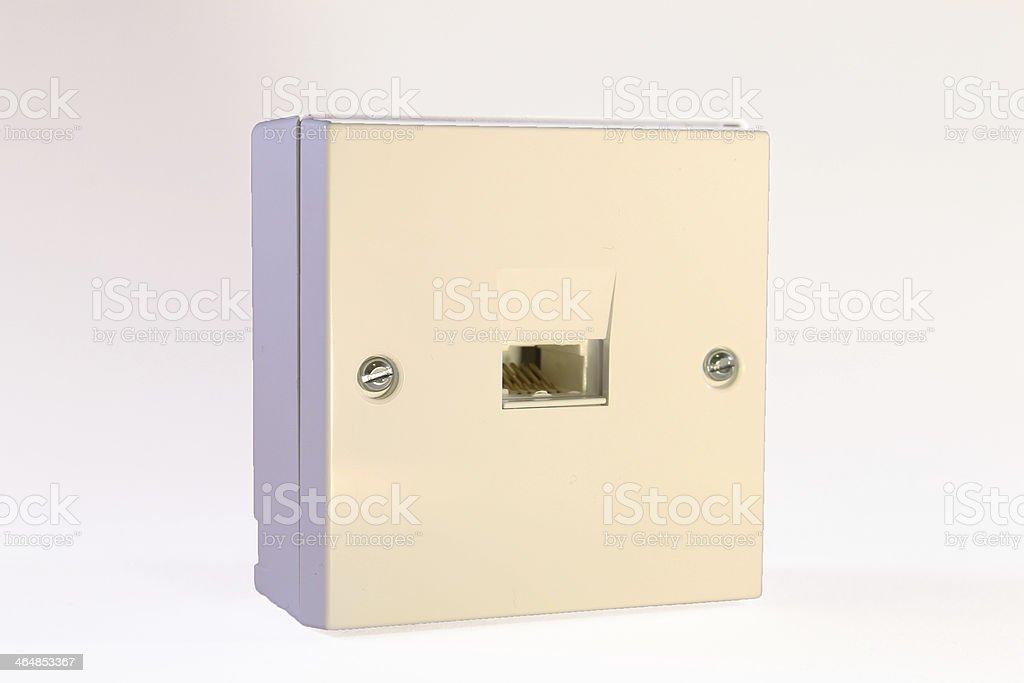Telephone Socket stock photo