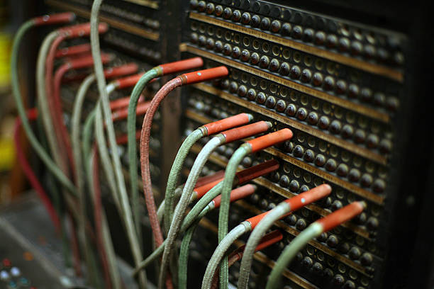 telephone switchboard - switchboard operator stock photos and pictures