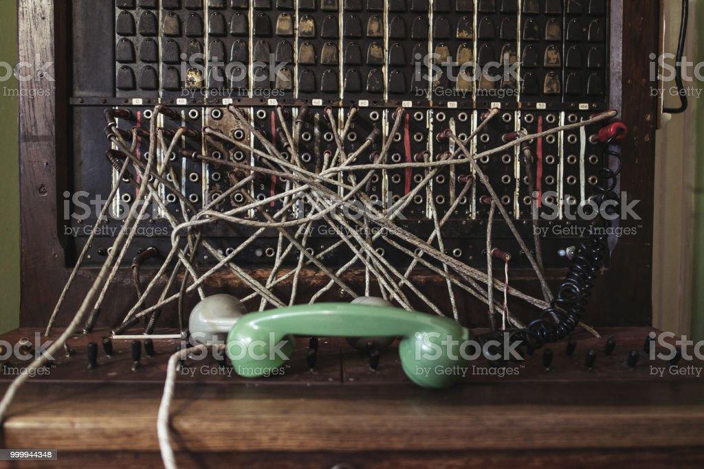 Telephone switchboard stock photo