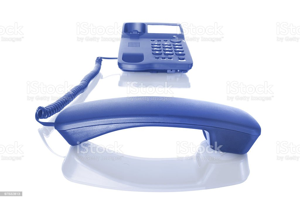 telephone with receiver off royalty-free stock photo