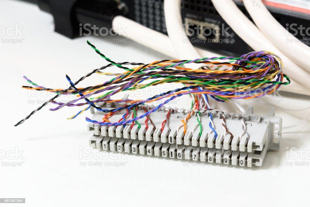 Iptelefoniesystem Telefon Verkabelung Patchpanel Mit Twisted Pair ...