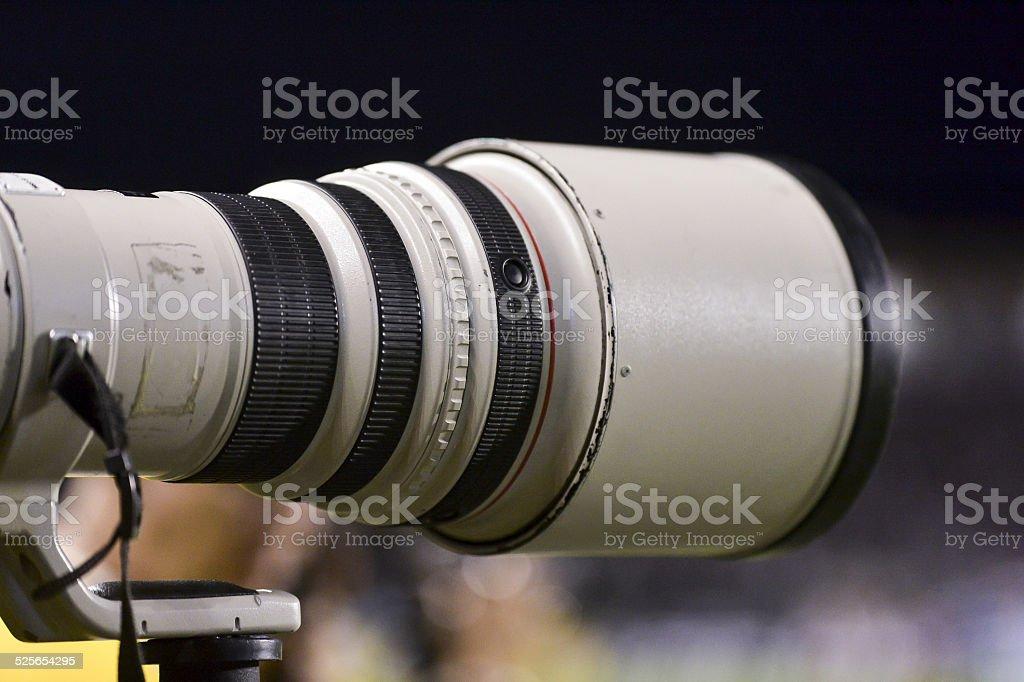 telephoto lens stock photo