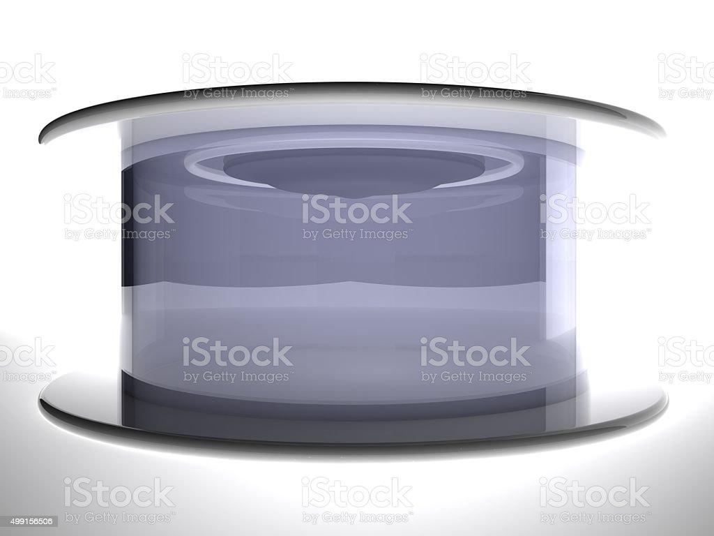 Teleportation  capsule, 3d stock photo