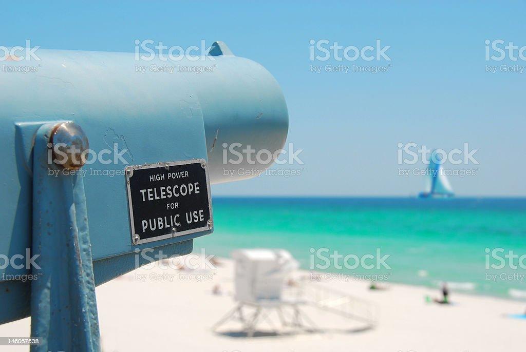 Telescope at Beach royalty-free stock photo