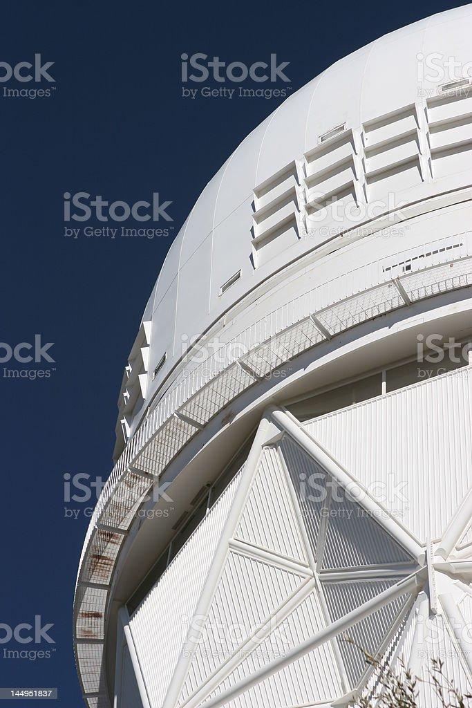 Telescope dome at Kitt Peak National Observatory near Tucson, Arizona royalty-free stock photo