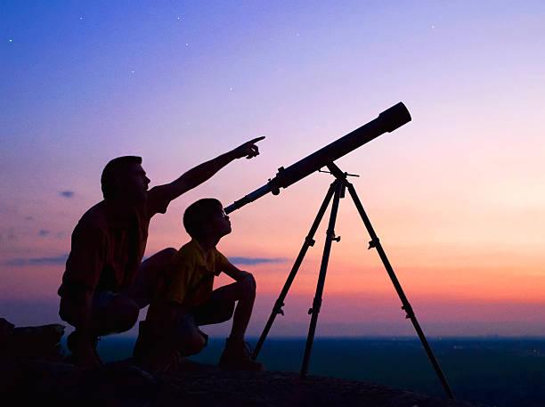 Telescope stock photo