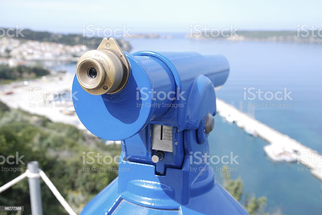 telescope view with bay royalty-free stock photo