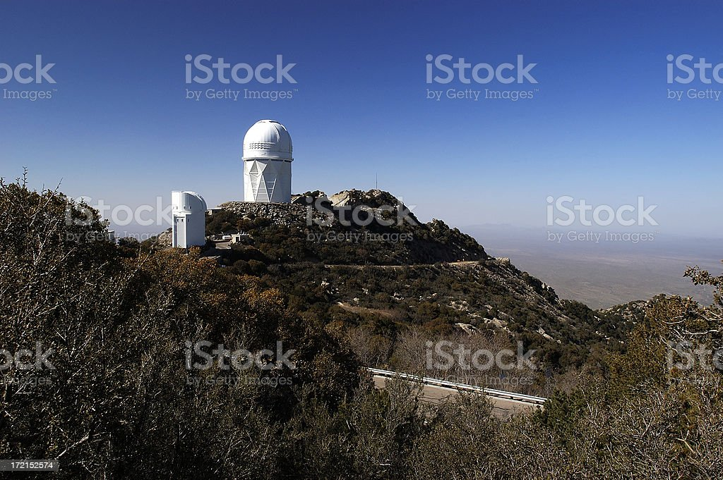 Telescopes on Kitt Peak royalty-free stock photo