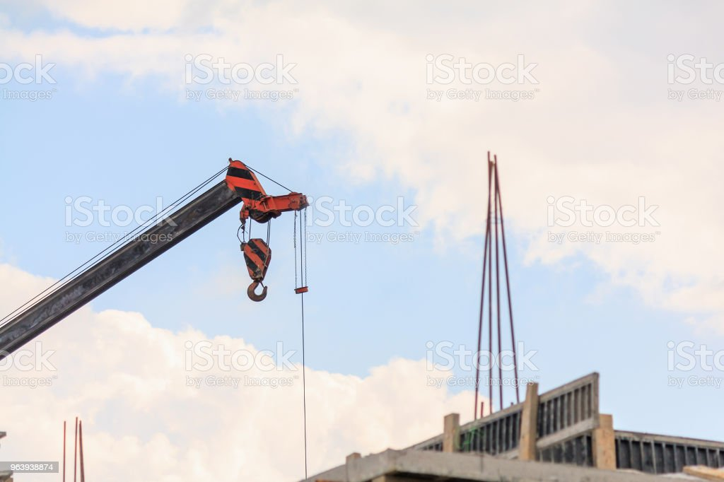 telescopic arms of mobile construction crane truck - Royalty-free Activity Stock Photo