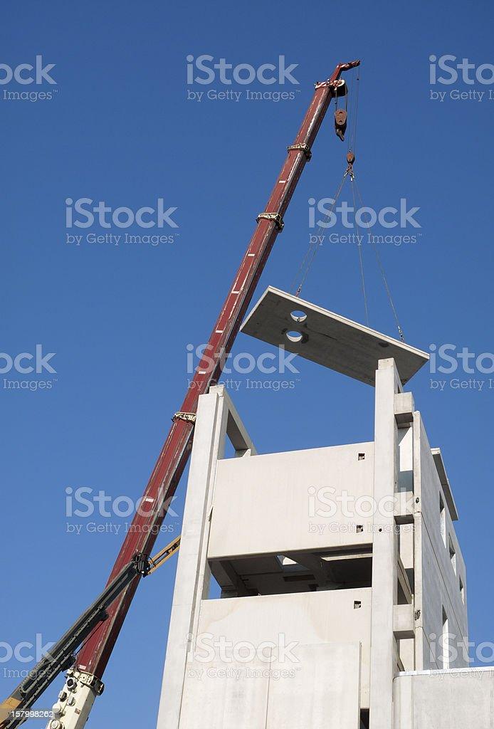 Telescopic crane stock photo