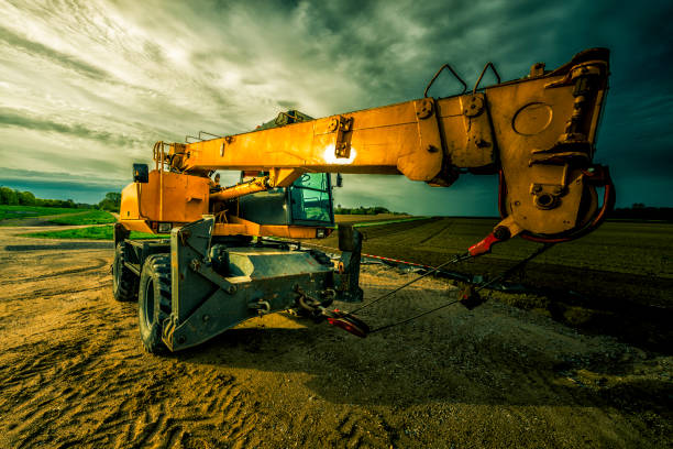 telescopic crane telescopic crane mobile crane stock pictures, royalty-free photos & images