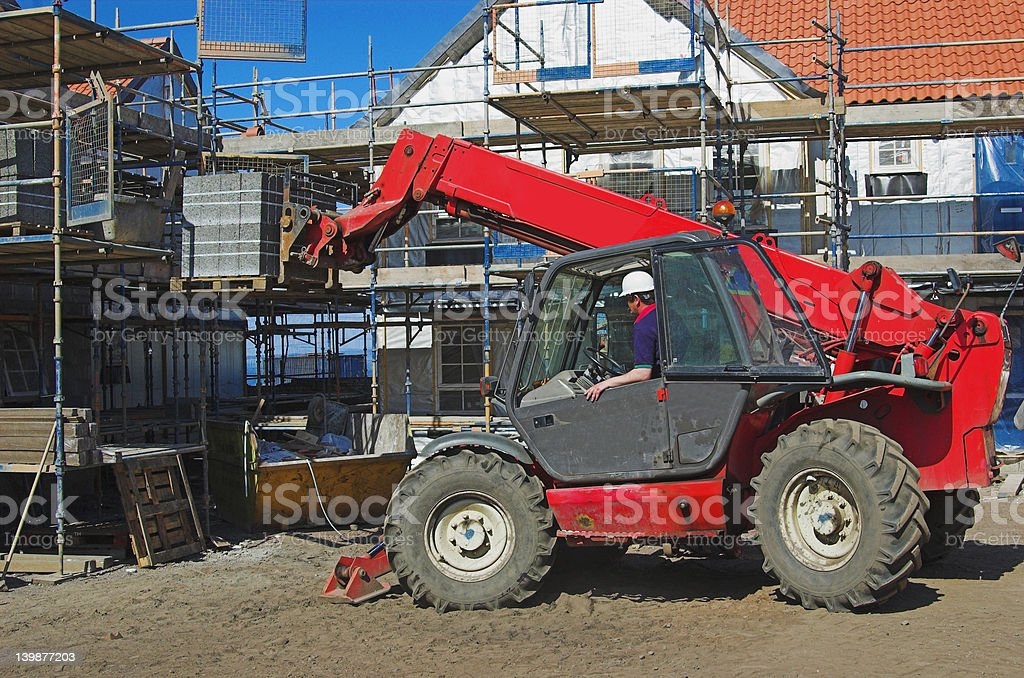 Telescopic Forklift Machine 1 - Royalty-free Activity Stock Photo