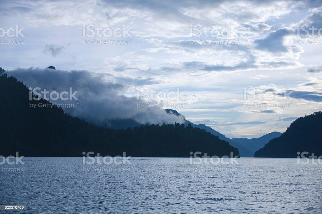 Teletskoye lake. Altai mountains. Russia zbiór zdjęć royalty-free