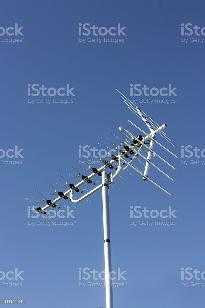 television aerial stock photo