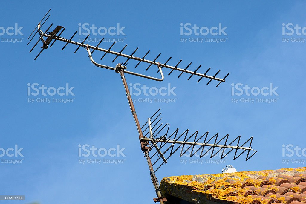 Television Aerials royalty-free stock photo