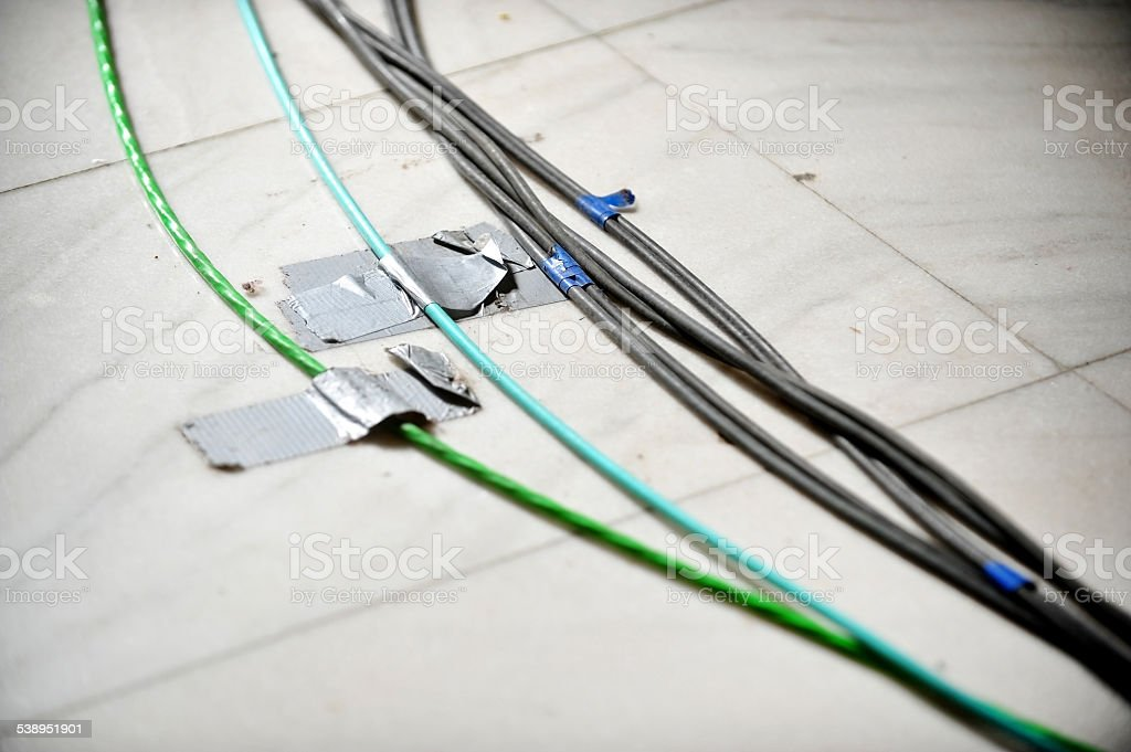 Television cables stock photo