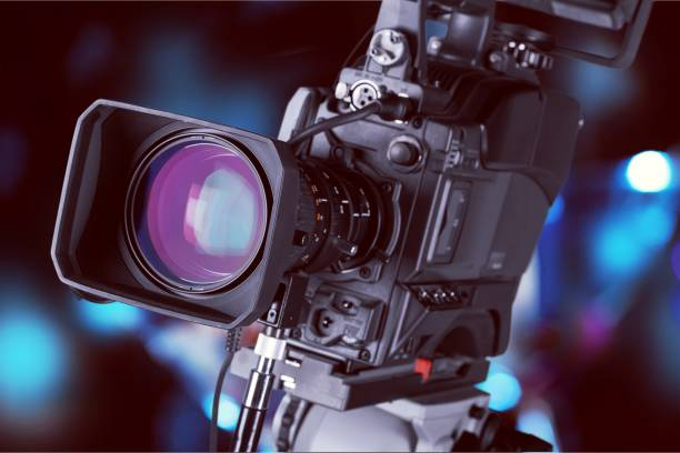 Television camera. stock photo