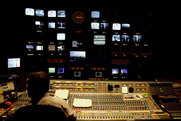 Television Control Room stock photo