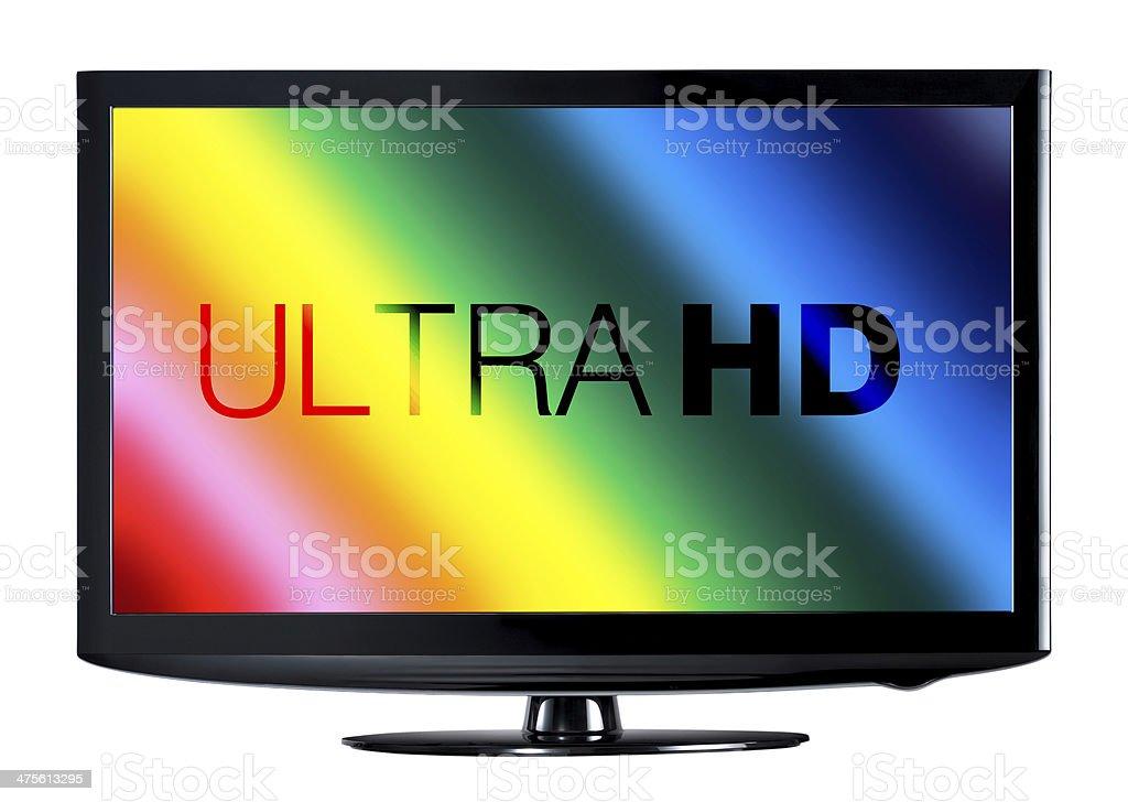 4K television display stock photo