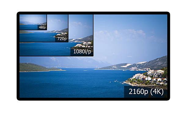 4 k fernsehbildschirm - 4k led tv stock-fotos und bilder