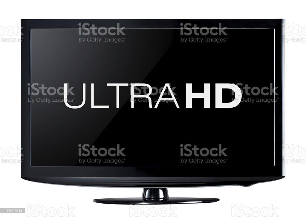 4K television display royalty-free stock photo